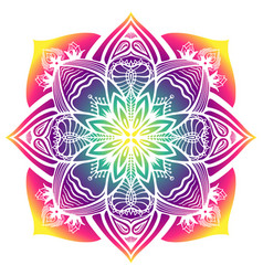 Mandala template for web design postcards vector