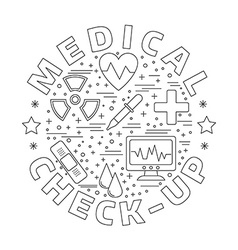 Medical diagnostic checkup graphic design concept vector image