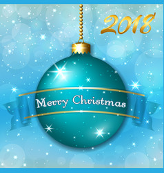 merry christmas decoration background with 3d vector image