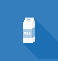milk carton paper packaging icon vector image