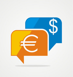 money exchange chat logo vector image