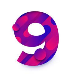 number bg gradients 9 vector image