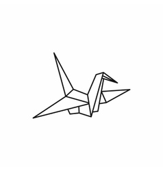 Origami dove icon outline style vector image