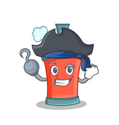 Pirate aerosol spray can character cartoon vector