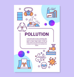 Pollution poster template layout environmental vector