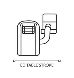 Portable air conditioner linear icon vector