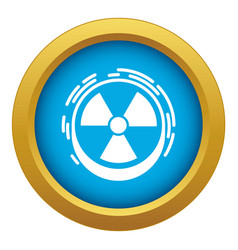 Radiation sign icon blue isolated vector