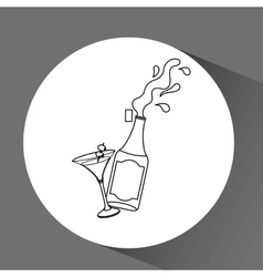 Retro party icon design vector