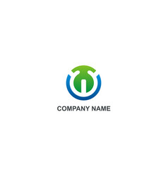 round technology unusual company logo vector image