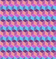 Seamless cube flat color background vector