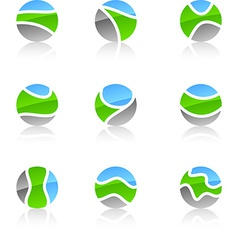 Set of nature symbols vector image