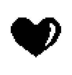 Sign pixel heart black 308 vector image