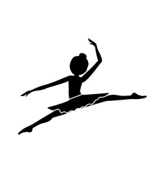 Silhouette with dancer pose small spears vector
