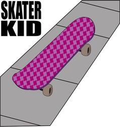 Skater kid vector