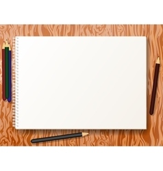 sketch pad with pencils vector image