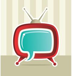 Social media web tv idea idea vector image