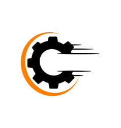 Speed gear letter o c vector