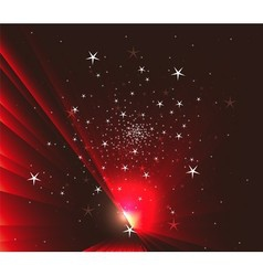 Stars on Dark red background vector