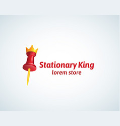 stationary king sign symbol vector image