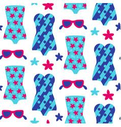 Summer beach seamless pattern vector