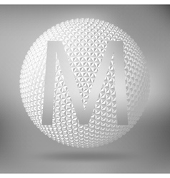 The letter M Polygonal letter Abstract Creative vector image