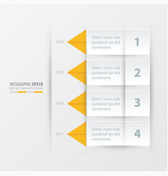 timeline report template yellow color vector image