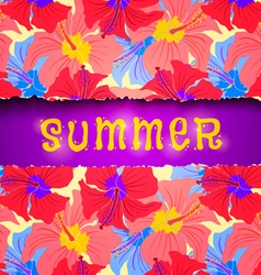 Torn paper summer vector