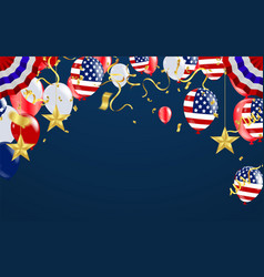 Usa labor day poster with air balloons and with a vector