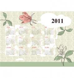 vintage calendar for 2011 vector image