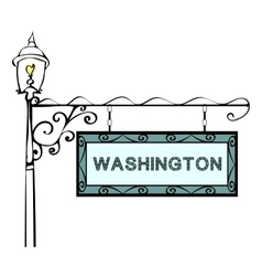 Washington retro pointer lamppost vector