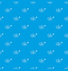 watering can pattern seamless blue vector image