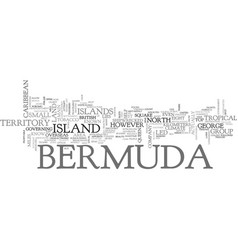 Where is bermuda text word cloud concept vector