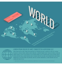 World map business background concept desig vector