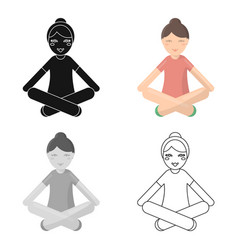 Yoga icon of for web and vector