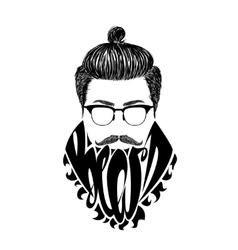 Black logo Beard vector image vector image