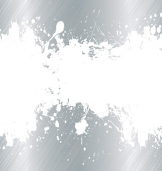 brushed metal ink splat vector image vector image