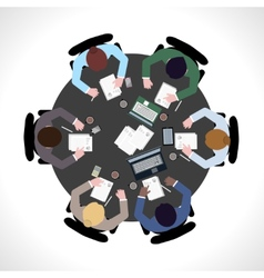 Business meeting top view vector image vector image