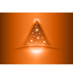 christmas tree star red vector image vector image