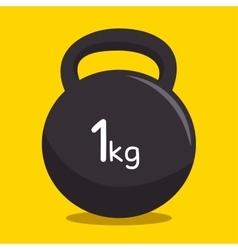 Kettlebell weight fitness gym vector