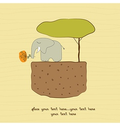 One little elephant vector