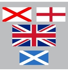 United Kingdom collection of flags vector image
