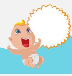 baby happy cartoon template background vector image