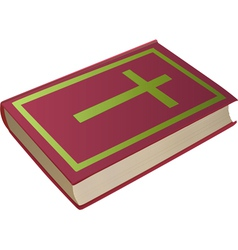 Bible with cross on cover vector
