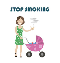 dangers of smoking for kids vector image