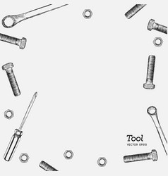 set of tools hand draw style vector image
