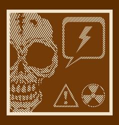 Skull retro vector image vector image