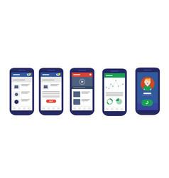 user interface mobile design ui smart phone vector image