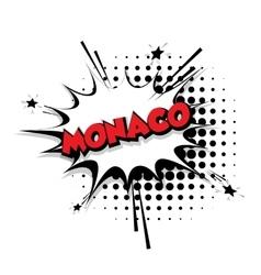 Comic text Monaco sound effects pop art vector image