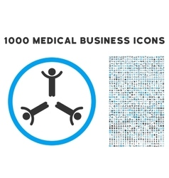 Hands Up Men Icon with 1000 Medical Business vector image