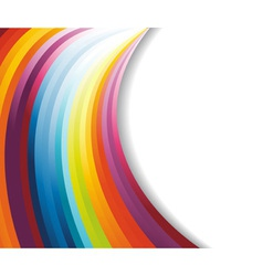 rainbow horizontal banner vector image vector image